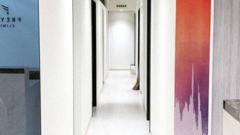 フレイアクリニックの廊下