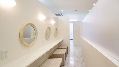 HMRクリニックの化粧室