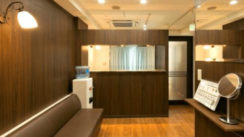 渋谷美容外科クリニックの待合室